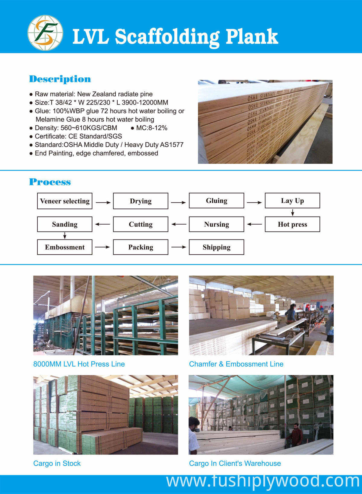 LVL scaffolding specifications