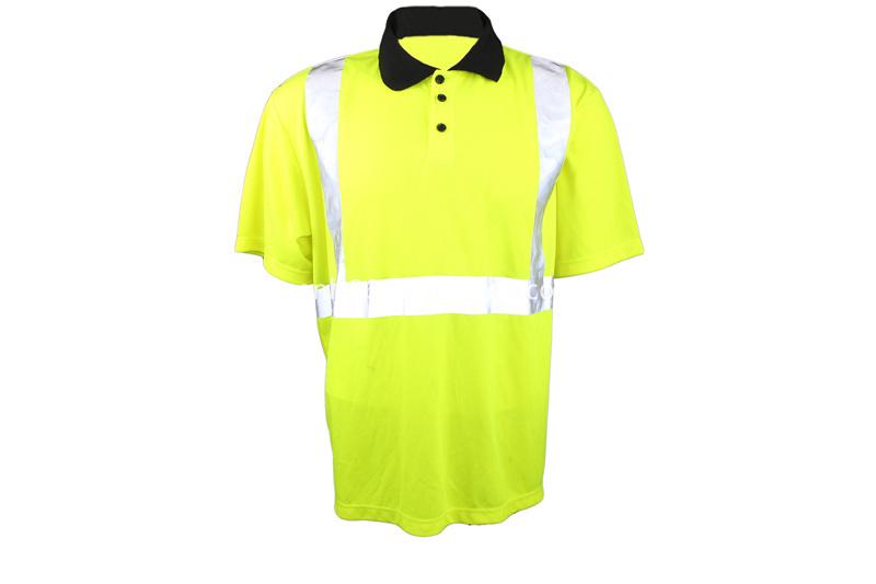 Reflective safety short-sleeve T-shirt