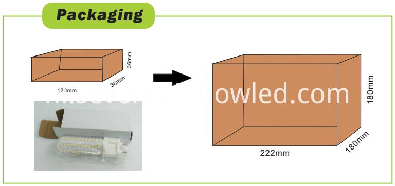 Packing of G12 led light