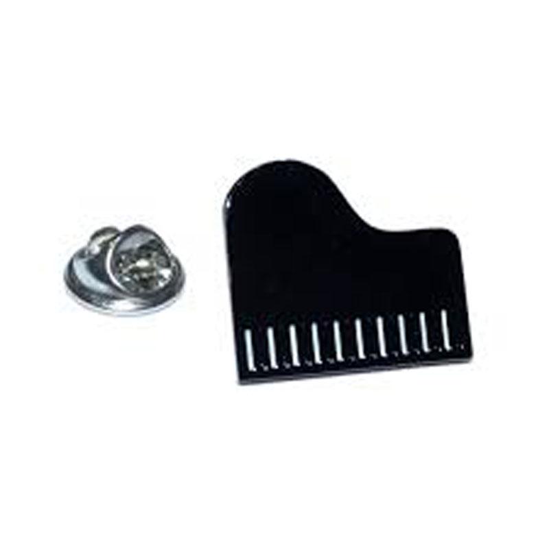 Sentinel Black White Grand Piano Lapel Pin