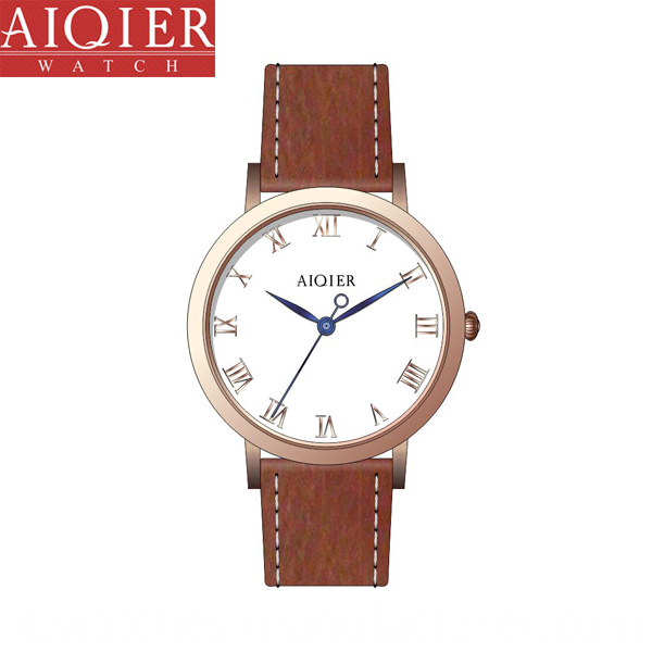 Waterproof Leather Steel Watch