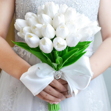 Artificial Flower Real Touch Mini Tulips Bouquet Home Wedding Decoration