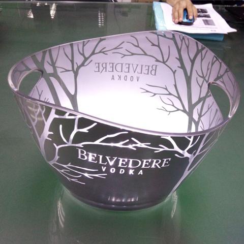 illuminated belvedere ice bucket