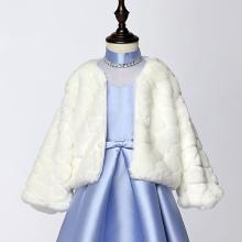 Sweet Girls Princess Faux Fur Cape Shoulder Coat