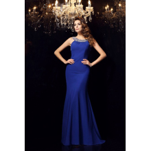 Sheath/Column Elastic Satin Floor-Length Formal Dresses Evening Wear