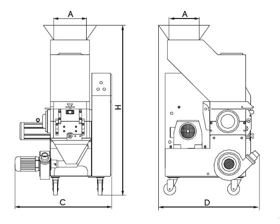 Plastic Low Speed Grinder Machine