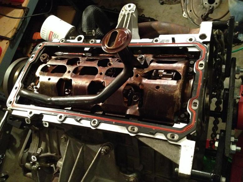 Mustangs Oil Pan Gasket install