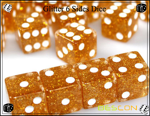 Glitter 6 Sides Dice