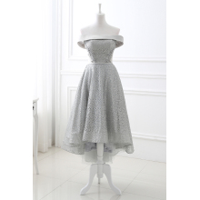 A-Line Tulle Tea-Length Formal Dresses for Homecoming