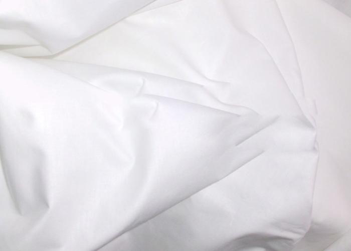 Cotton White Plain Fabric