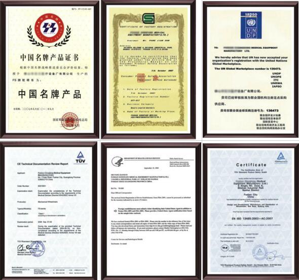 rollator certificate