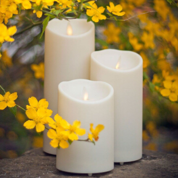 plastic outdoor luminara candle set