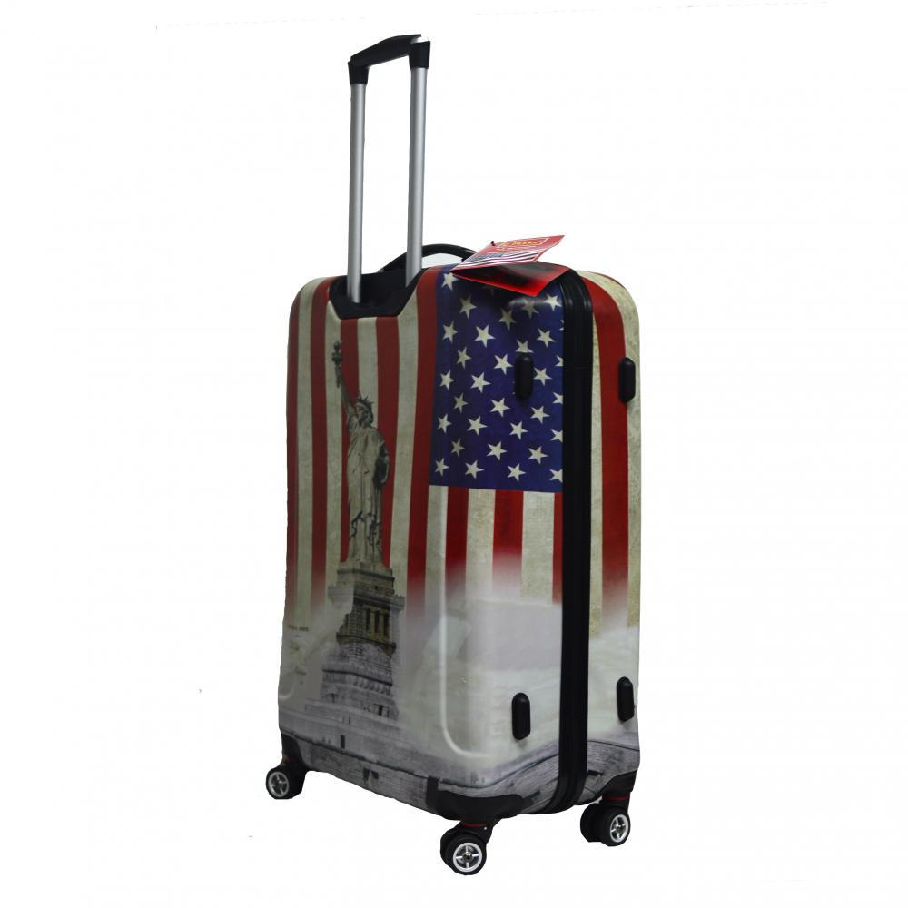 Hardshell luggage with printing