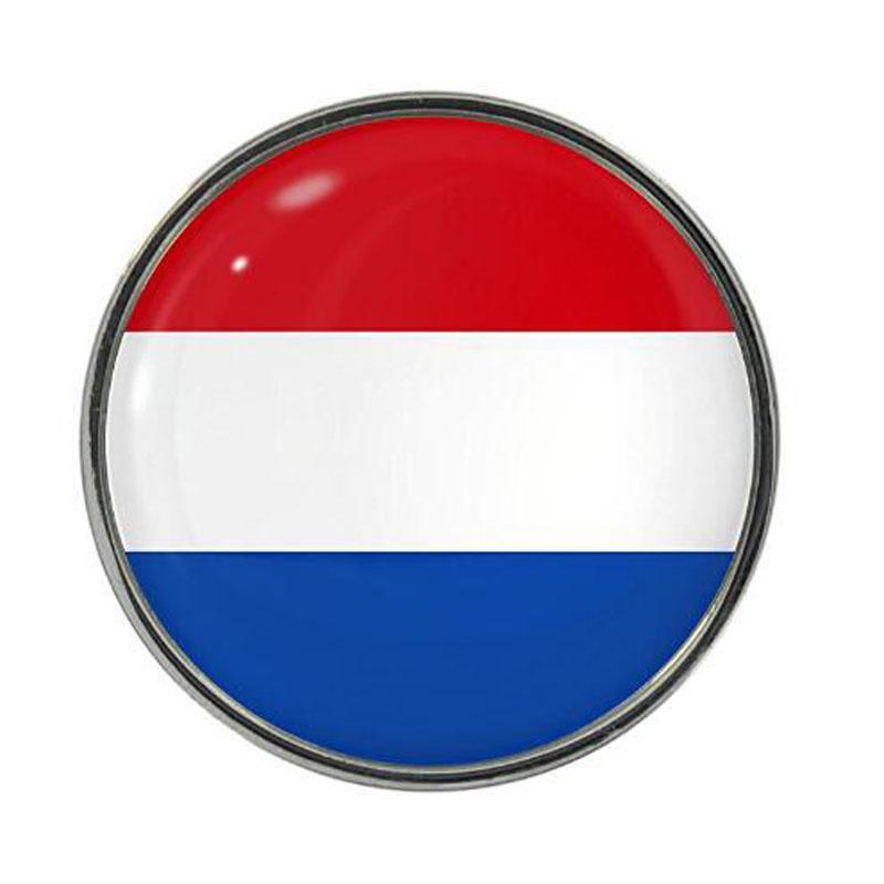 Netherlands Flag Design Pin Badge