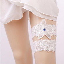 White Lace Bridal Wedding Garter Belt
