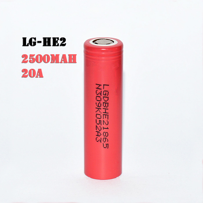 LG HE2 2500mah 20A Lithium Cell