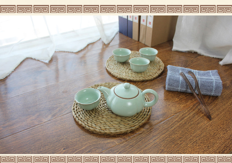 bulrush cup mat
