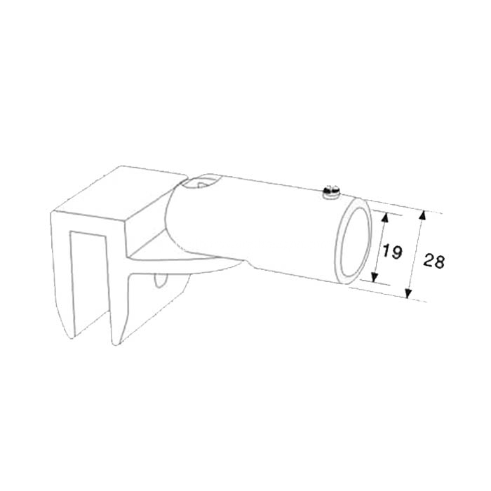 Super Quality Shower Glass Pipe Connector