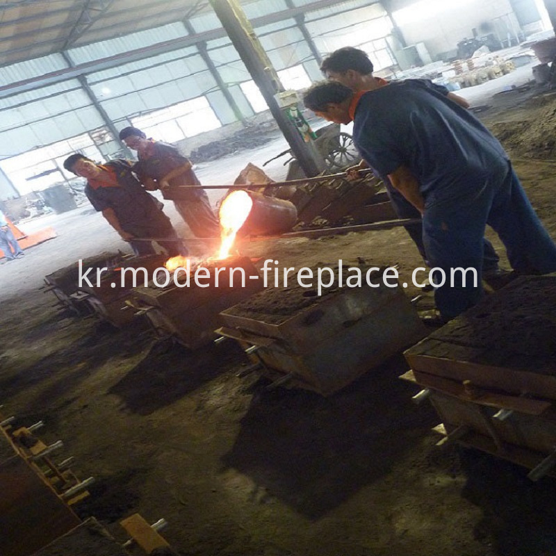 Wood Burning Stove Indoor Production