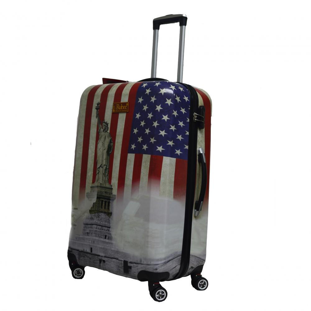 the state of liberty printing suitcase