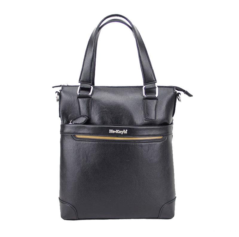 Leather Messenger Bag Men Dk 1509 Pm003 Black
