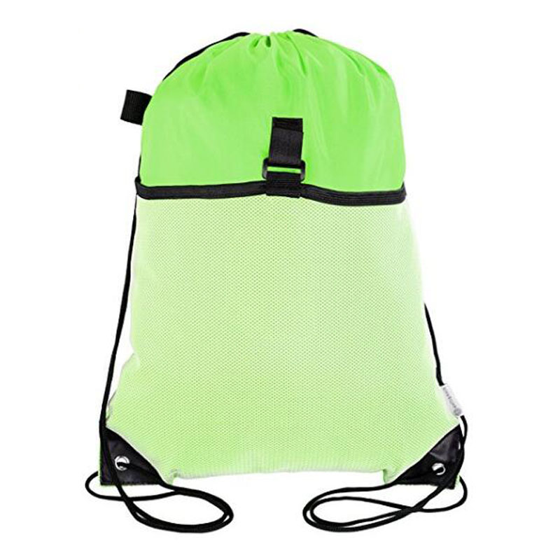 Green Drawstring Backpack