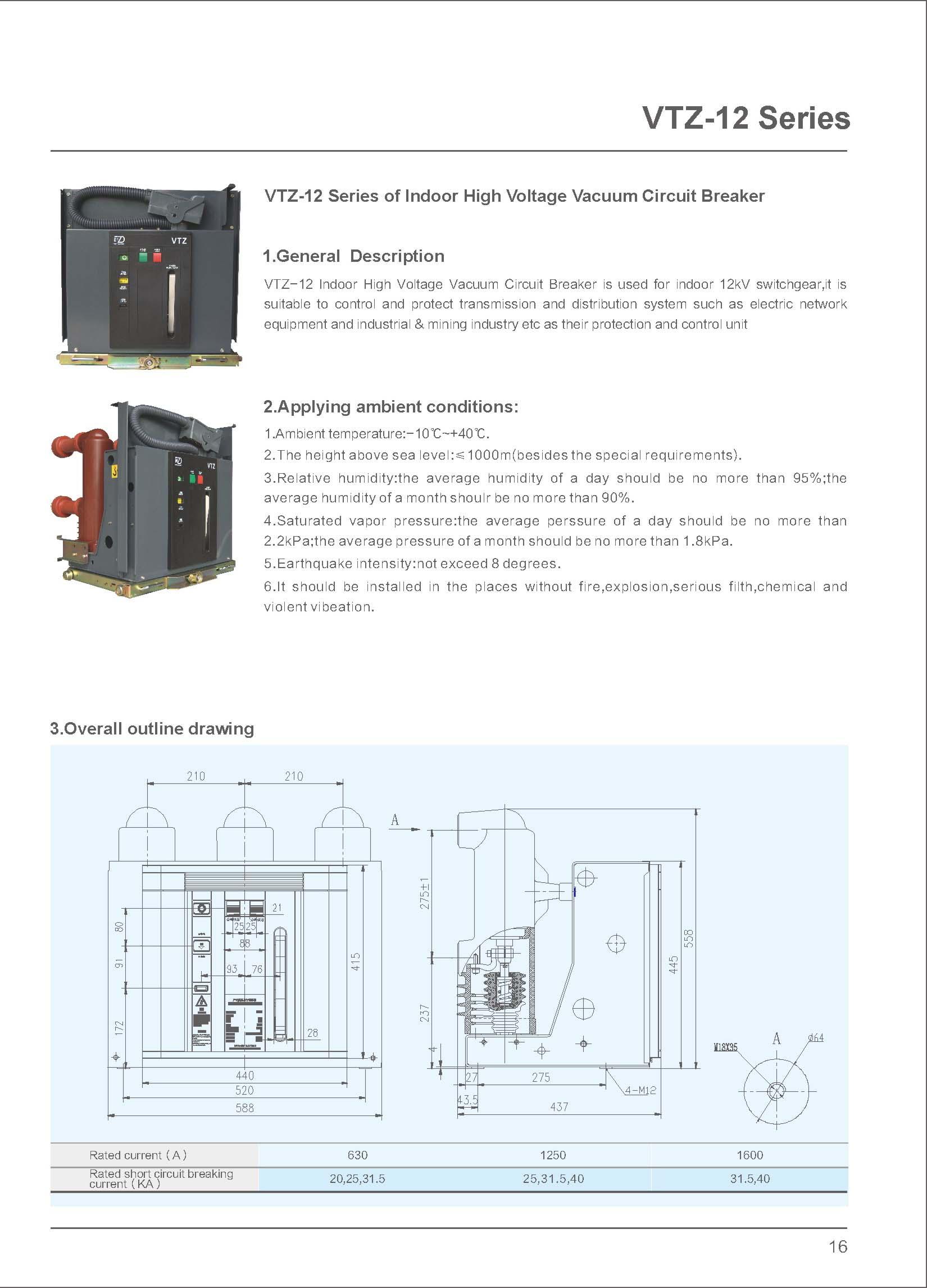 Embedded poles VCB Description