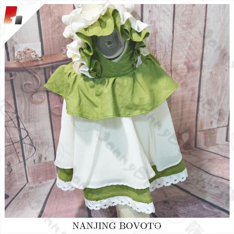 green chiffon dress06