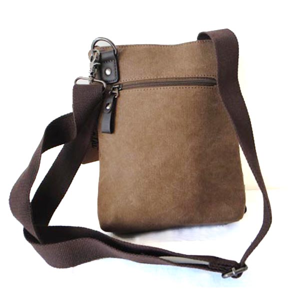 Leather Mix Canvas Holdall