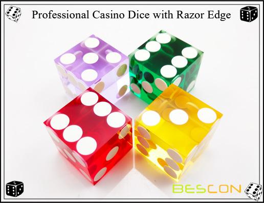 Professional Casino Dice with Razor Edge