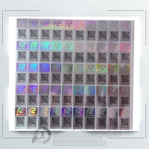 Custom Oval Laser Holographic Labels