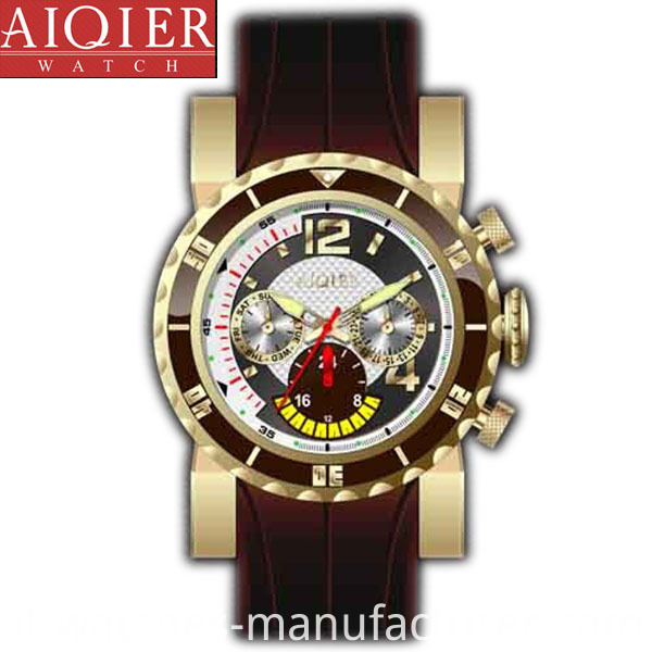 Analog quartz movement sports watch