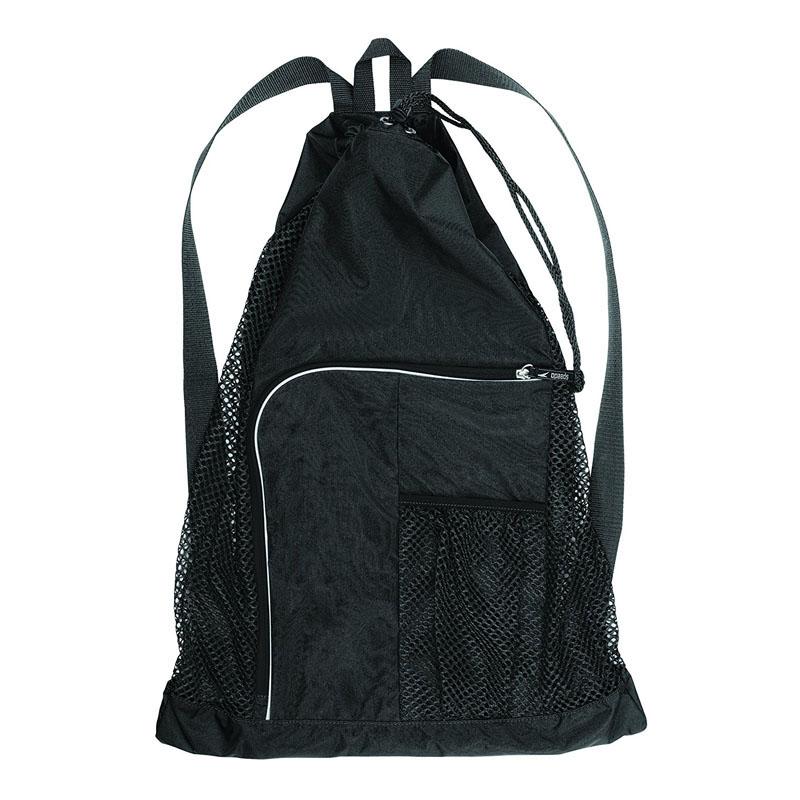 Black Deluxe Mesh Equipment Backpacks