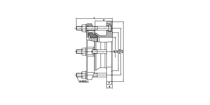flange adaptor drawing