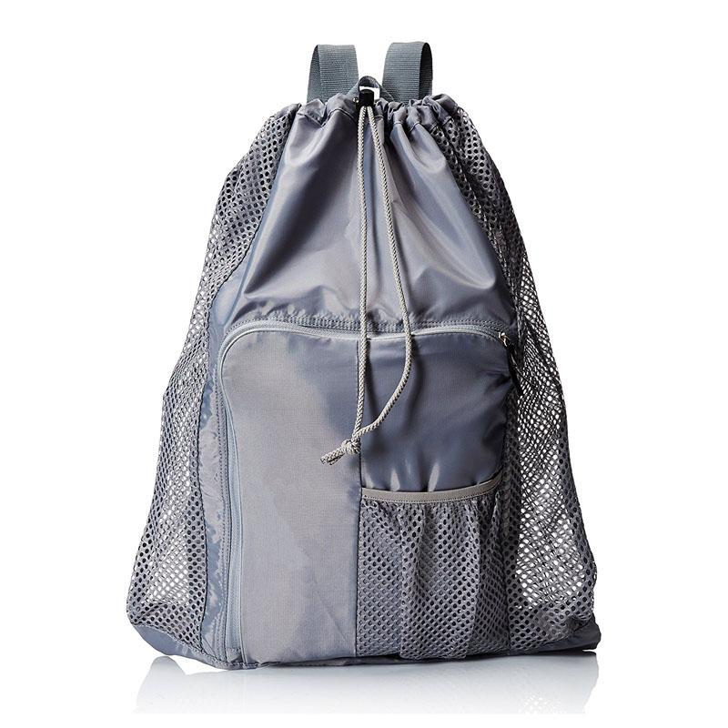Grey Mesh Equipment Bag