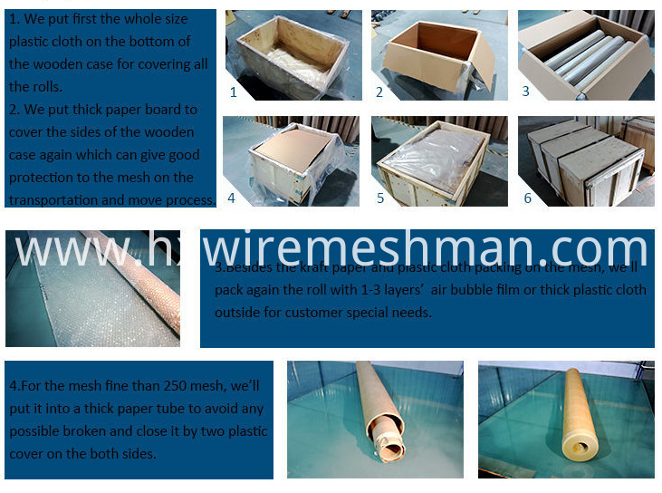 packing of wire cloth
