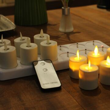 luminara rechargeable tealight
