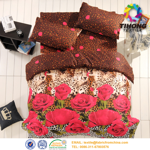 digital flower print bedding fabric