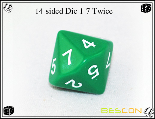 14-sided Die 1-7 Twice