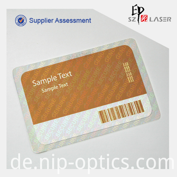 General design holographic label