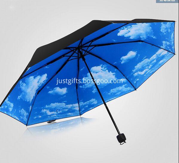 Promotional Full Printed Triple Folding Umbrella2
