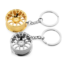Wheel Keychain Keyring Key Holder Ring Metal Alloy Pendant