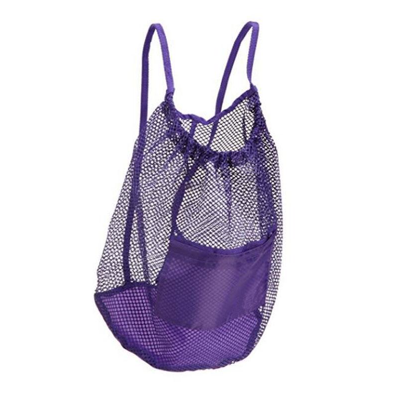 Purple Mesh Backpack