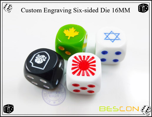 Custom Engraving Six-sided Die 16MM
