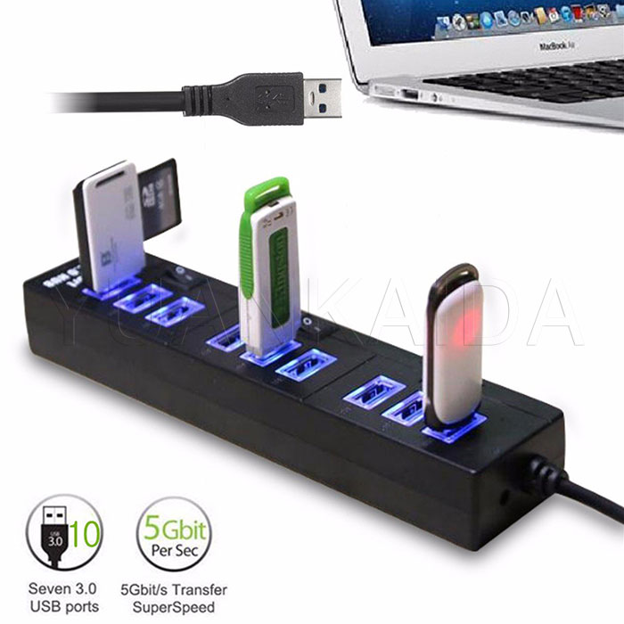 10 Port Usb 3 0 Powered Hub