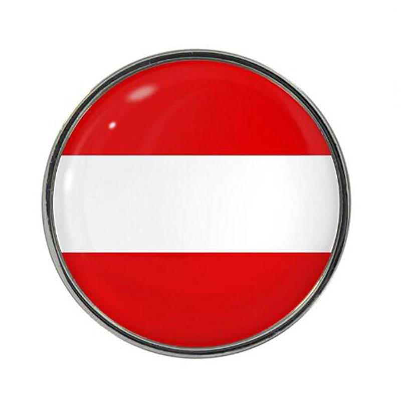 Austria Flag Design Pin Badge