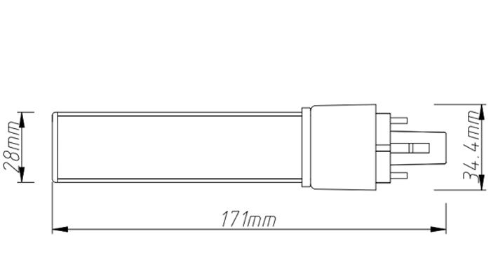 PL-18-10W  led tube pl light size