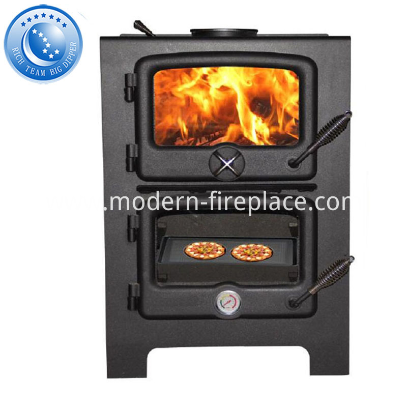 Direct Vent Wood Heating Kitchen Stove