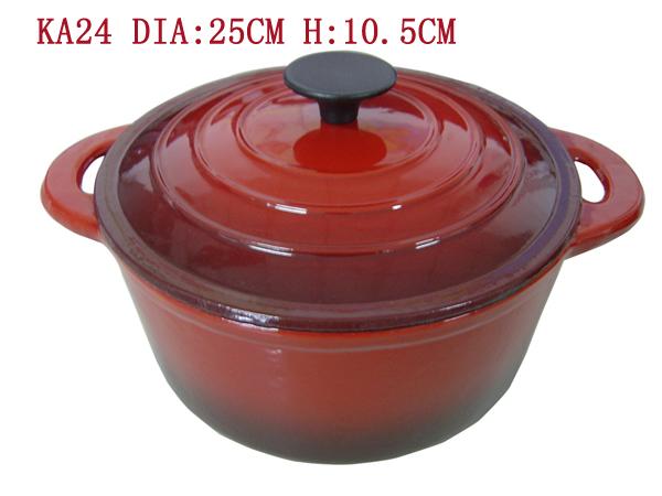 cast iron enamel Round Dutch Oven