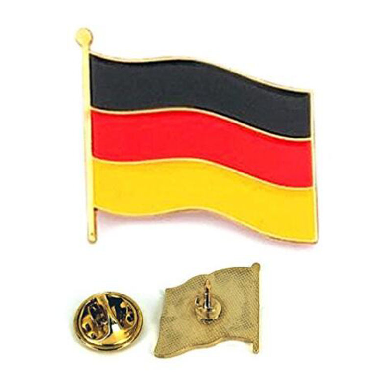Deutschland Flag Waving Metal Lapel Pin
